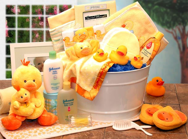 Squeaky Clean Rubber Ducky Basket