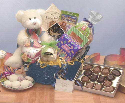 Birthday Gift Baskets - Beary Happy Birthday Med
