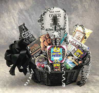 Birthday Gift Baskets - Over the Hill Med
