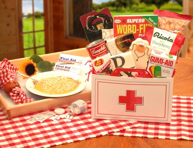 Get Well Gift Baskets - First Aid For The Ailing Lg