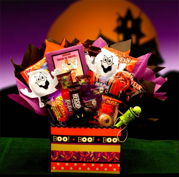Halloween Gift Baskets - Boo Mania Halloween  Bouquet