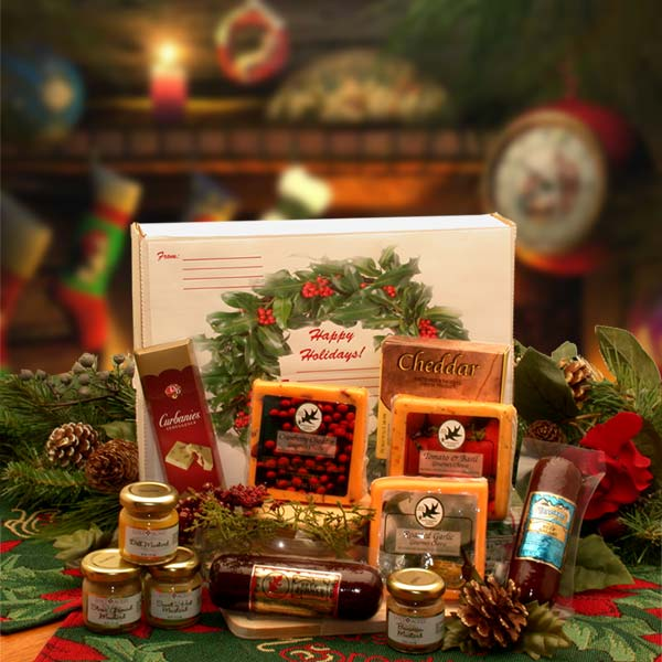 Holiday Gift Baskets - Happy Holidays Gourmet Sampler Pack