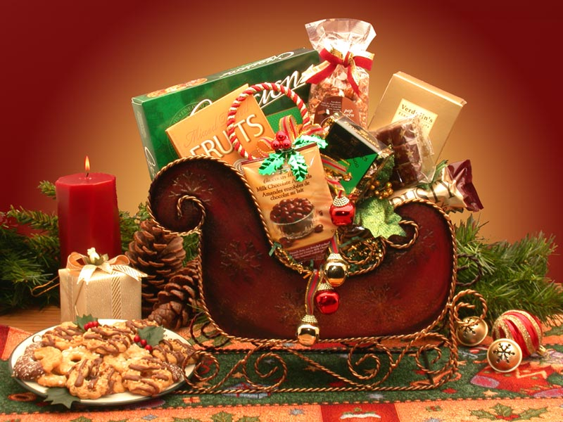 Holiday Gift Baskets - Holiday Sleigh  medium