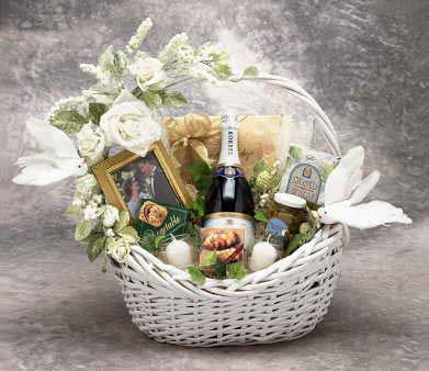 Wedding-Romance - Wedding Wishes Gift Basket Lg
