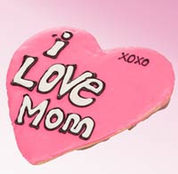 I Love Mom Giant Frosted Cookie